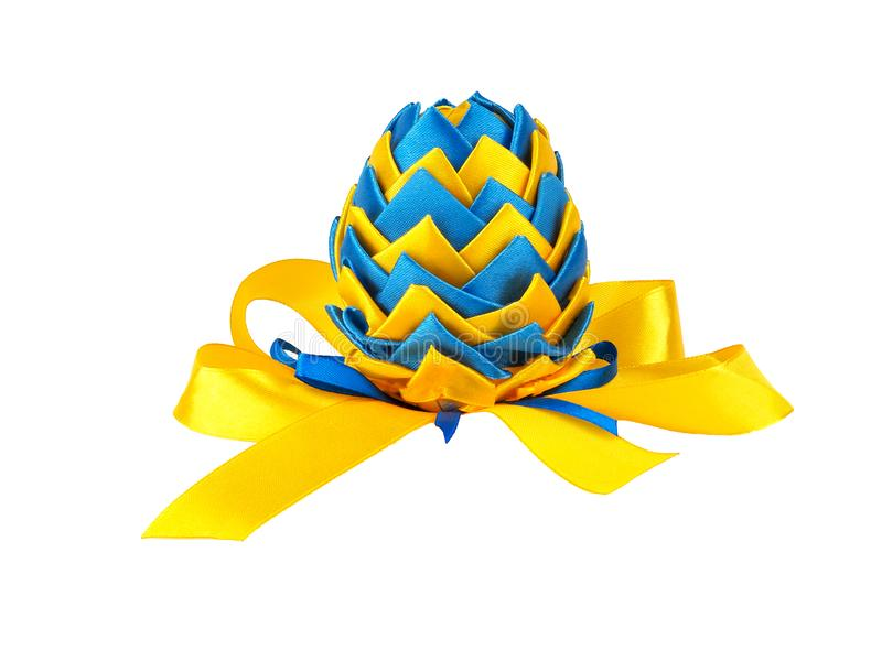 Easter egg made in Ukrainian style. Isolated on a white background royalty free stock photo
