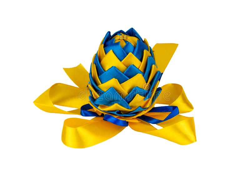 Easter egg made in Ukrainian style. Isolated on a white background stock photography