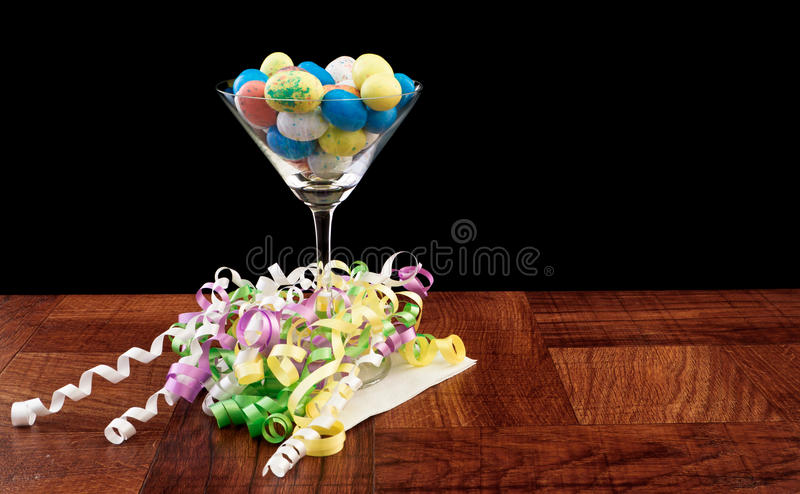 Easter egg martini royalty free stock images