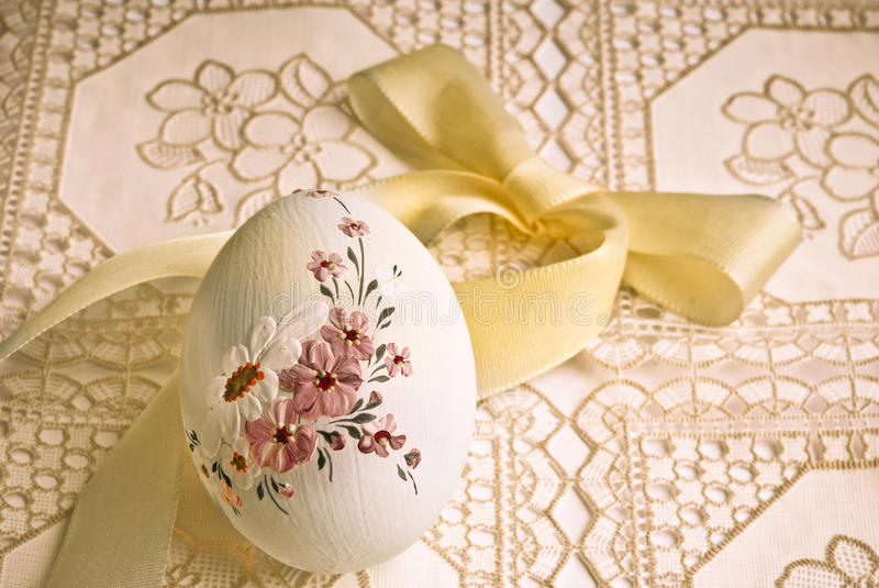 Easter egg in older style stock images