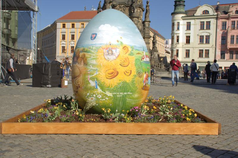 Easter egg in Olomouc city. Czech Republic stock images