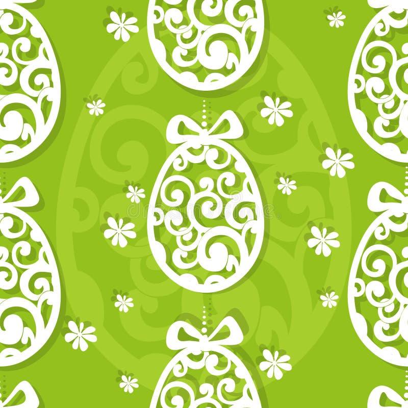 Easter egg openwork seamless background