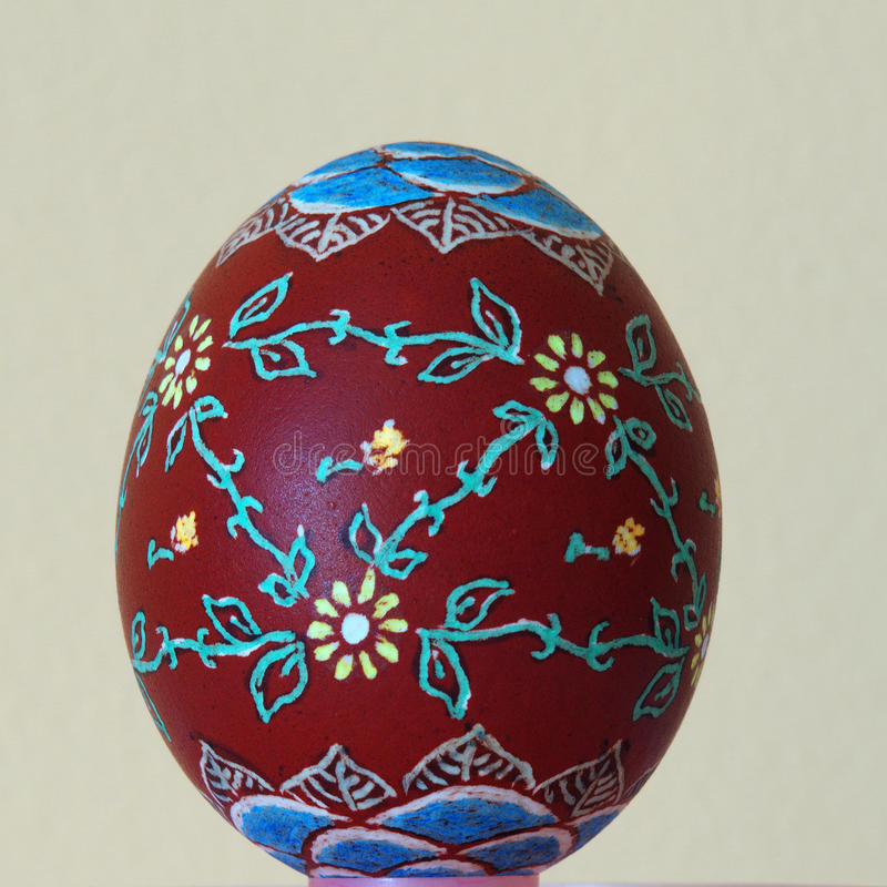 Easter egg painted. By hand royalty free stock photo