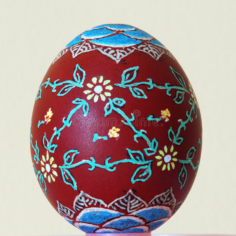 Easter egg painted. By hand stock images