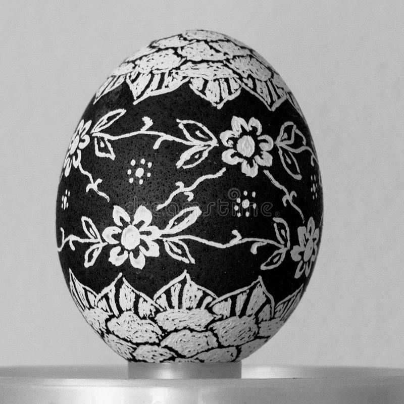 Easter egg painted. By hand stock photo