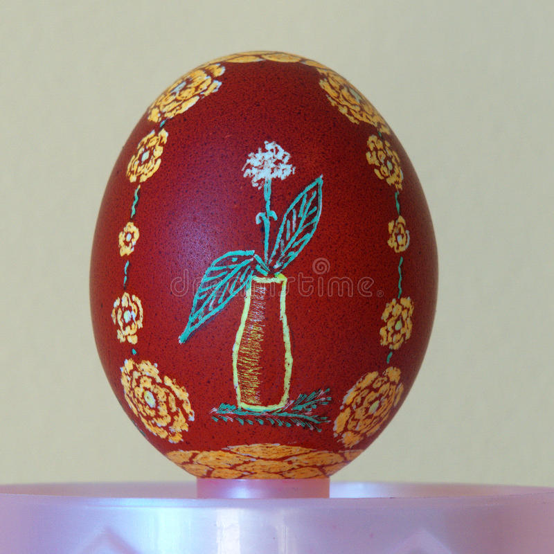 Easter egg painted. By hand royalty free stock images