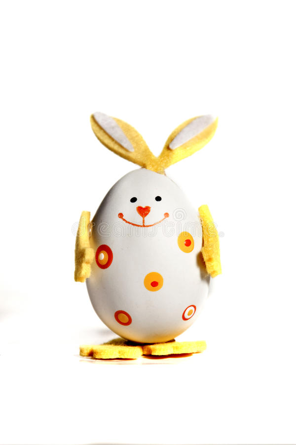 Download Easter Egg Painted Like Bunny Stock Image - Image: 12524369