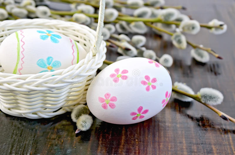 Easter egg painted with a pattern royalty free stock photos