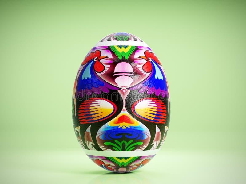 Easter egg with Polish folk pattern stock illustration