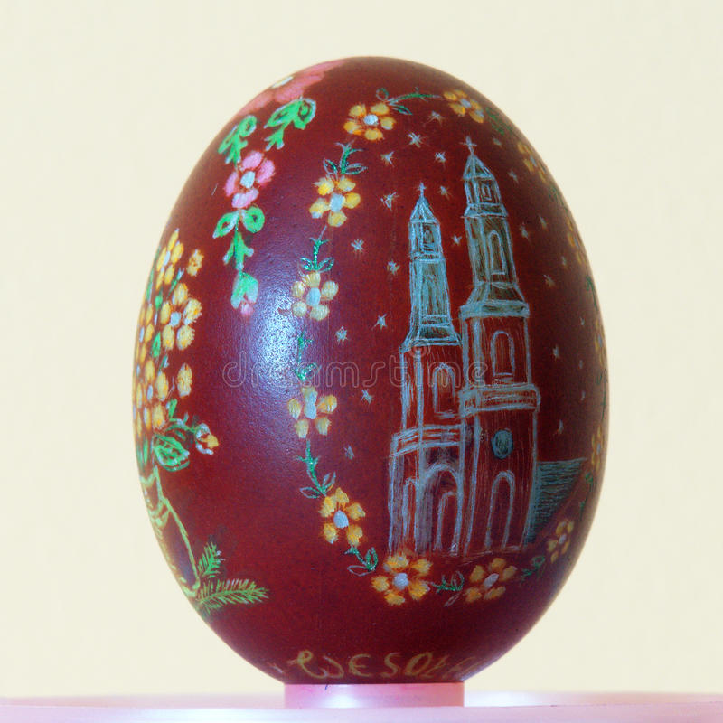 Easter egg scraped stock photography