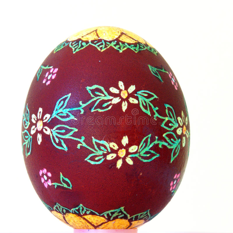 Easter egg scraped stock photo