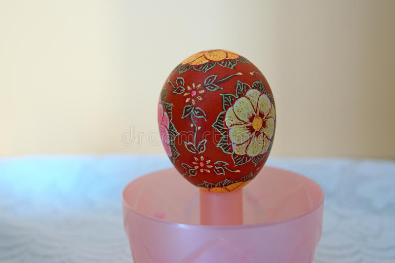Easter egg scraped royalty free stock photo
