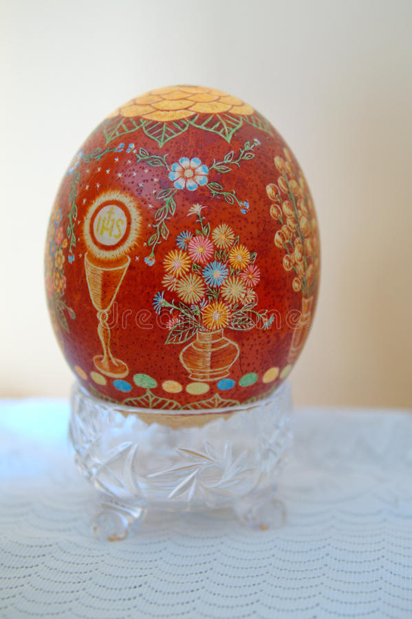 Easter egg scraped royalty free stock photography