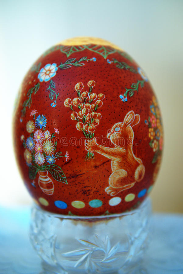 Easter egg scraped stock images