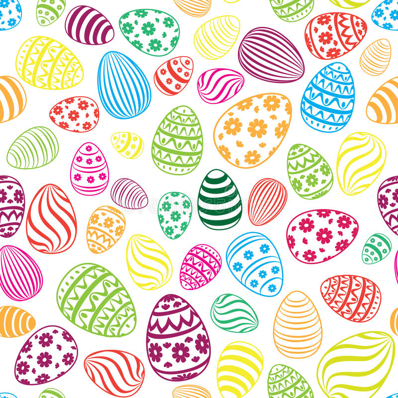 Easter egg seamless pattern holiday background stock illustration download easter egg seamless pattern holiday background stock illustration illustration of element ornament negle Images