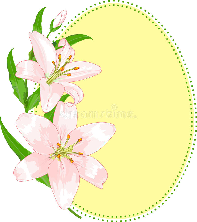 Download Easter Egg Shape With Lilies Stock Vector - Illustration of easter, lilly: 18662182