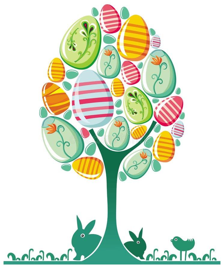 Easter egg tree. royalty free illustration