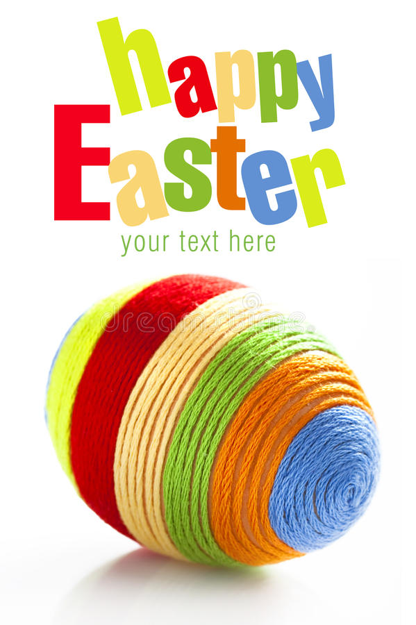 Free Easter Egg With Colorful Woolen Yarn Royalty Free Stock Photo - 38617885