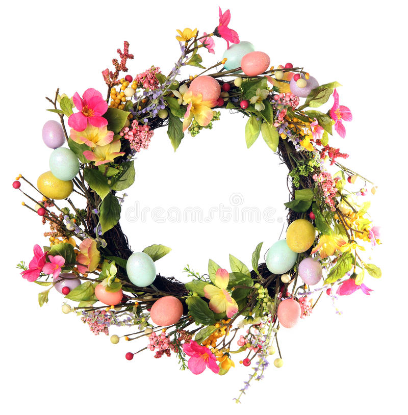Easter egg wreath royalty free stock image