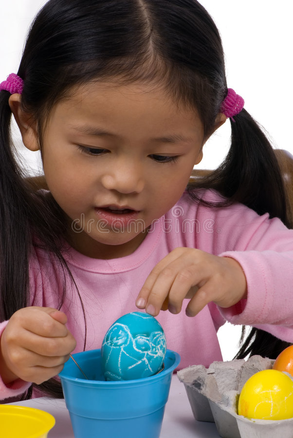 Download Easter Eggs 001 stock image. Image of coloring, girl, adorable - 2075517