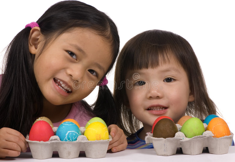 Download Easter Eggs 003 stock image. Image of girl, family, colorful - 2075545