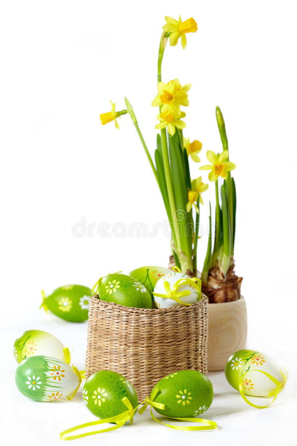 Easter eggs. On white background stock photography