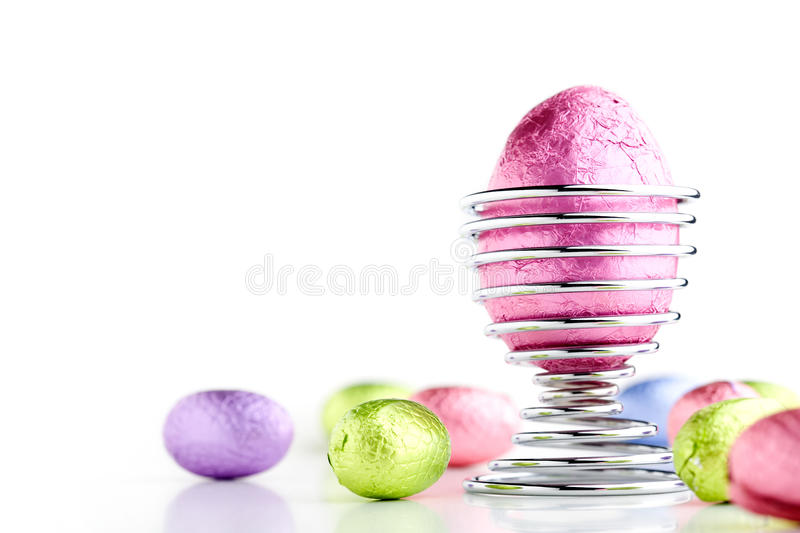 Easter eggs. Colorful easter eggs isolated on white background stock photos