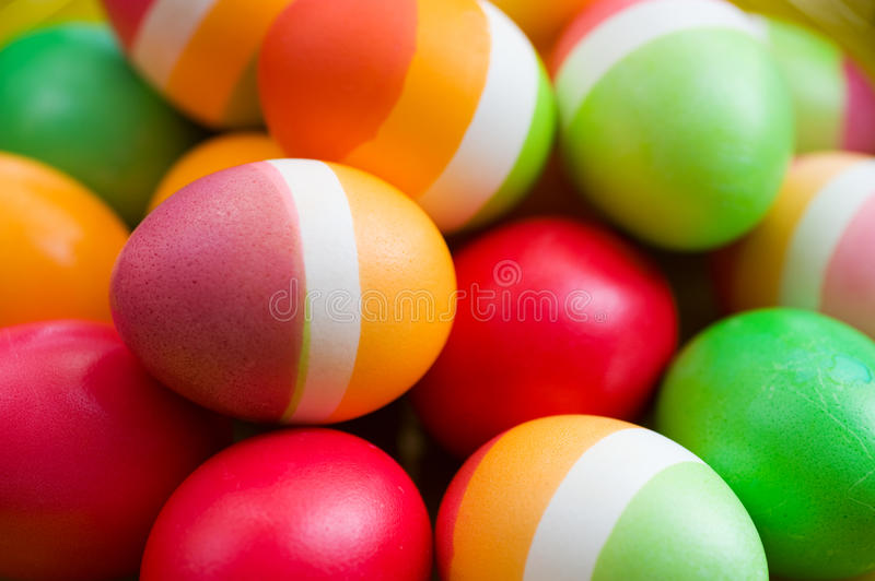 Easter Eggs. Beautiful Colorful Easter Eggs background stock image