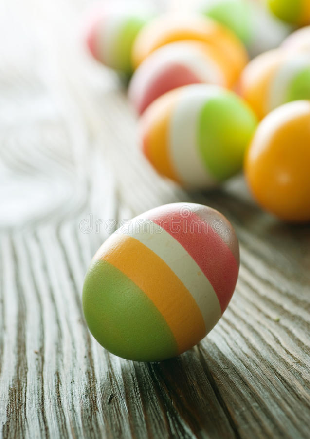 Easter Eggs. Colorful Easter Eggs border.With copy space royalty free stock photos