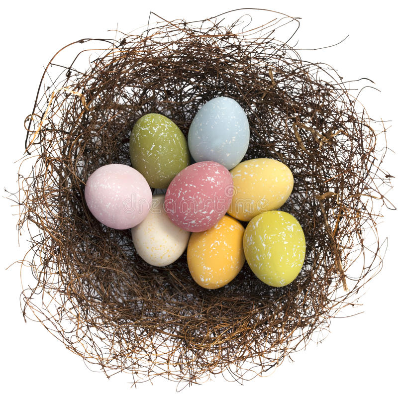 Download Easter Eggs stock image. Image of horizontal, overhead - 16784399