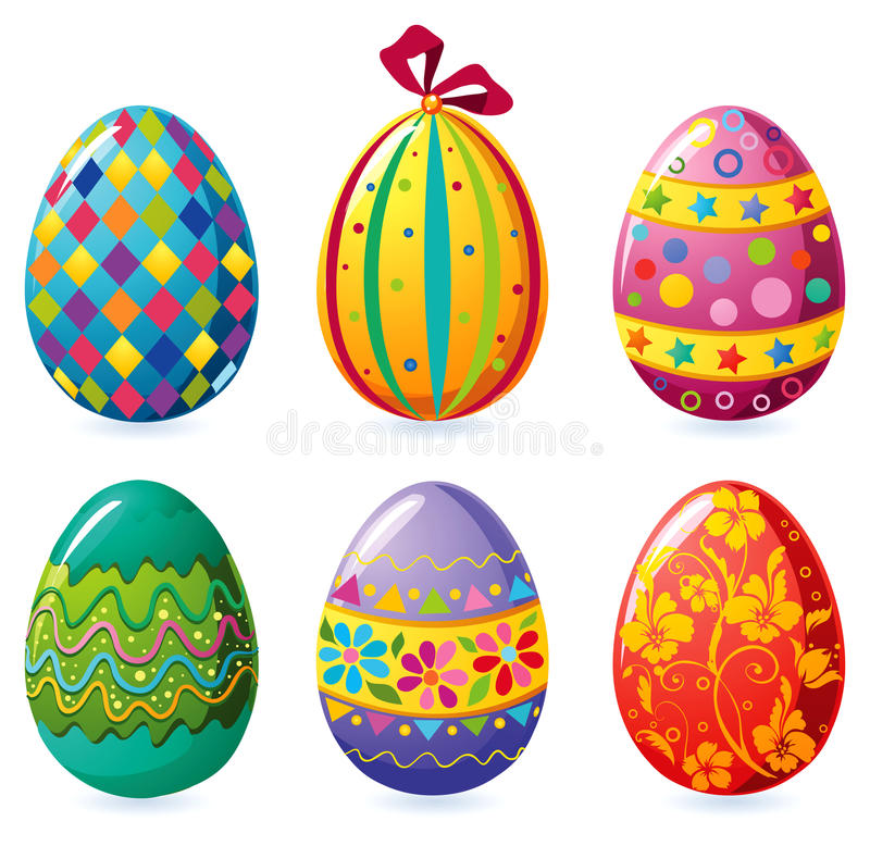 Easter eggs royalty free illustration