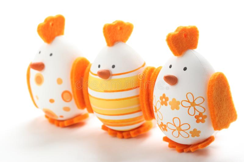 Easter Eggs. Colorful Easter Eggs on white background royalty free stock photography