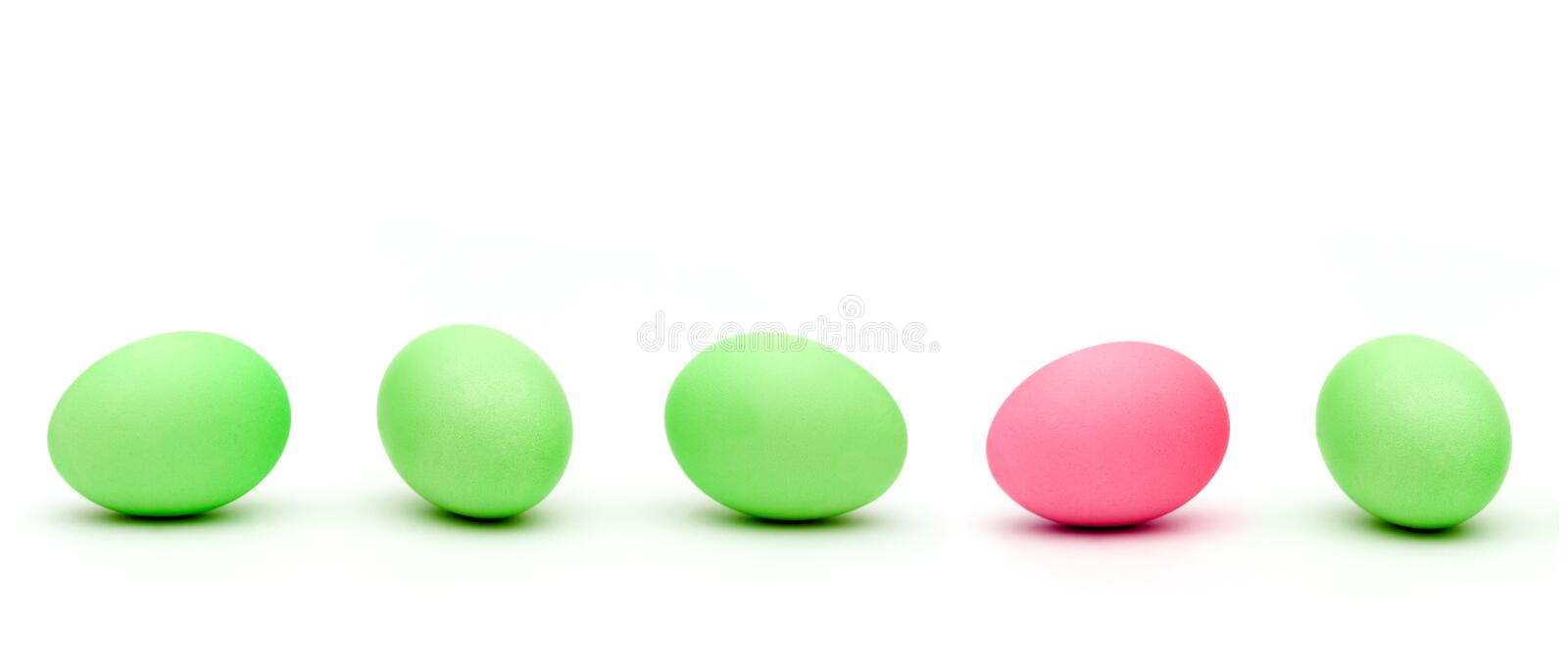 Easter eggs. Colourful easter eggs on white isolated background royalty free stock photos
