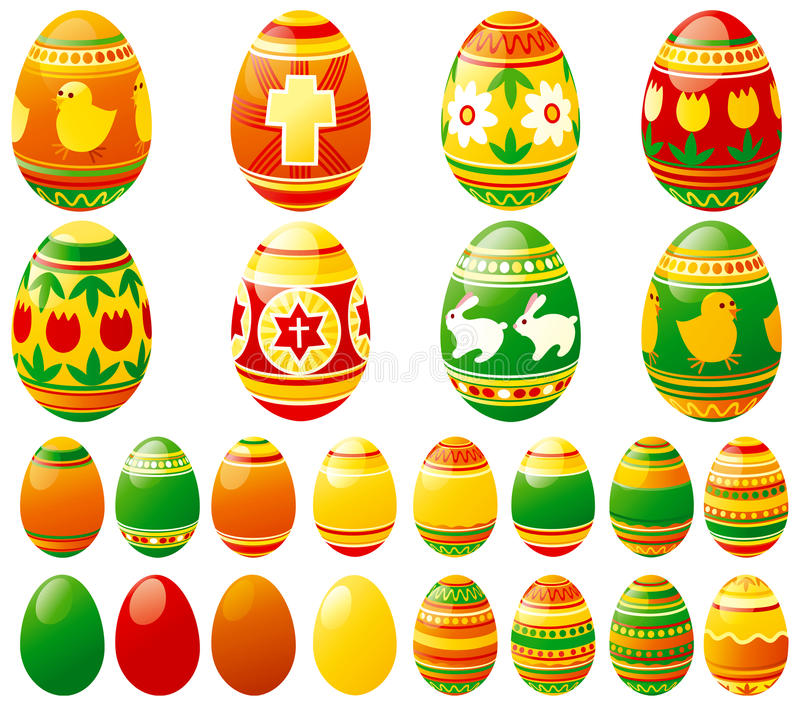 easter eggs 向量例证