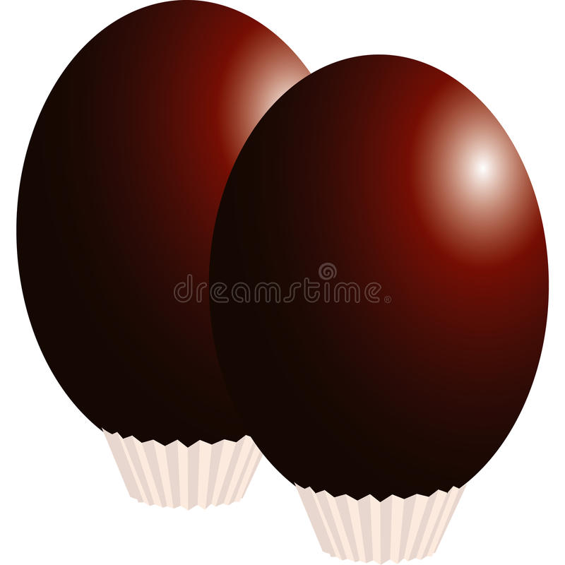 Download Easter eggs stock illustration. Image of brown, good - 18820732