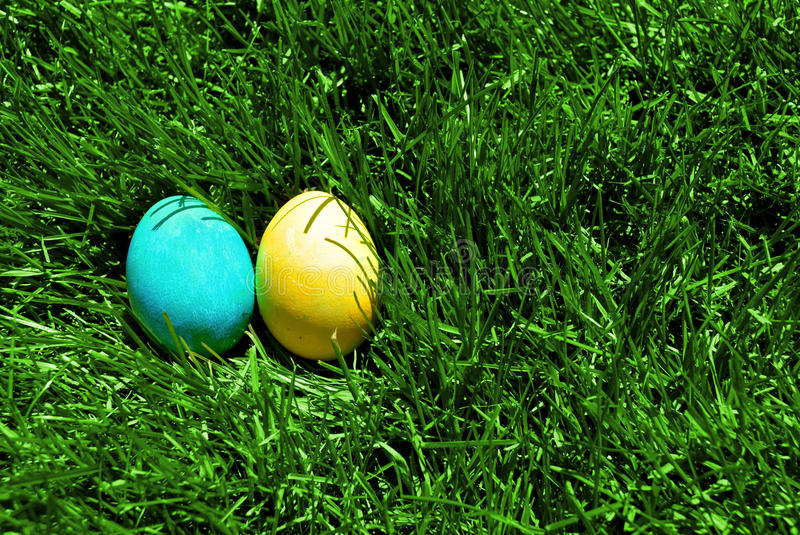 Download Easter Eggs stock photo. Image of aqua, outdoors, green - 26419516