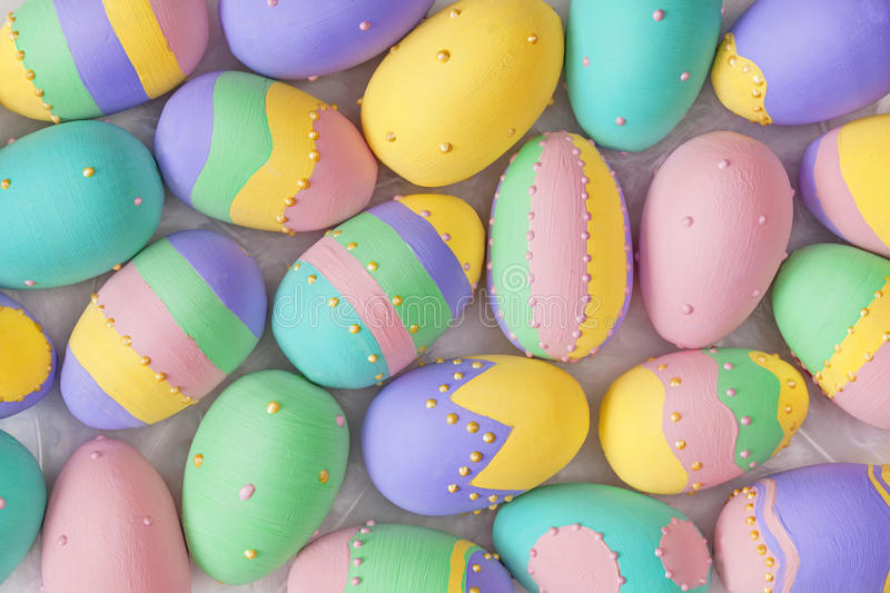Download Easter eggs stock image. Image of yellow, pastel, horizontal - 28493409
