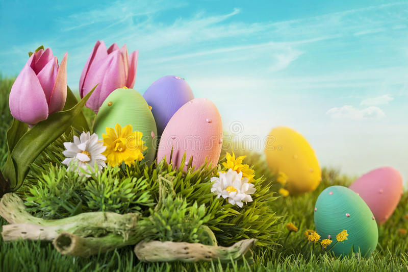 Download Easter eggs stock photo. Image of nobody, grass, closeup - 28545338