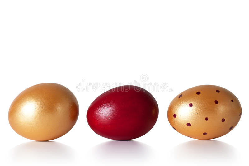 Easter Eggs. On white background. Hand painted. Holiday composition stock image
