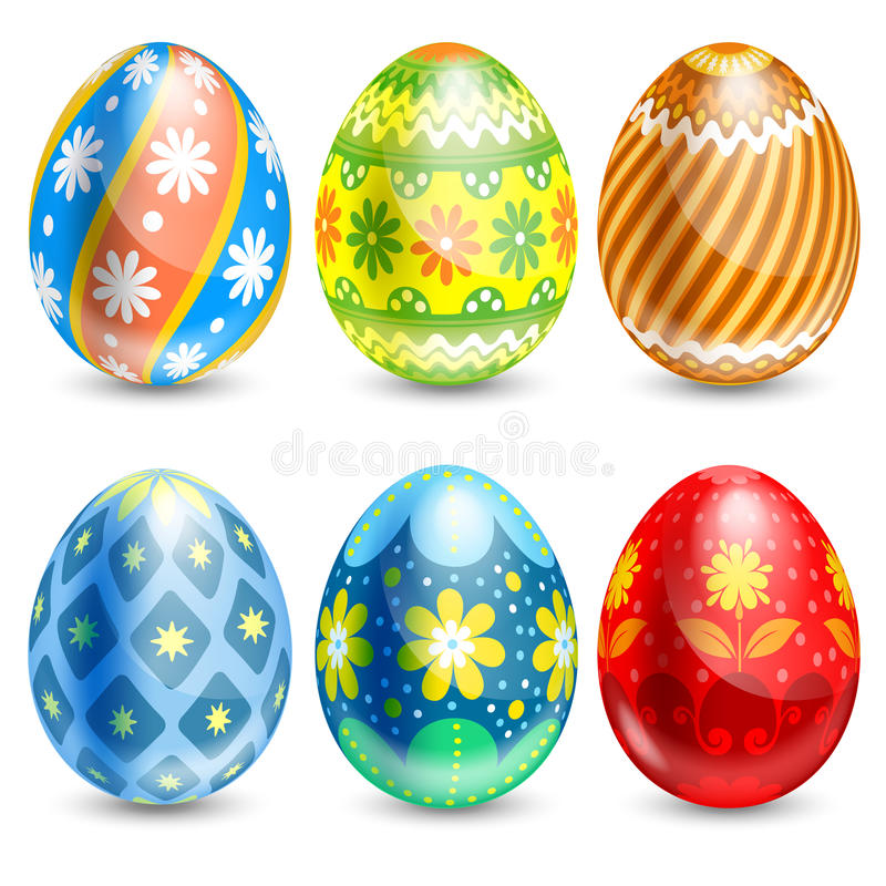 Download Easter eggs stock vector. Illustration of paint, april - 38204494