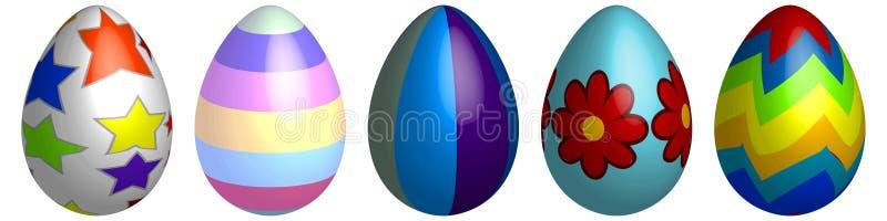 Easter Eggs. Illustration Different Easter Eggs royalty free illustration