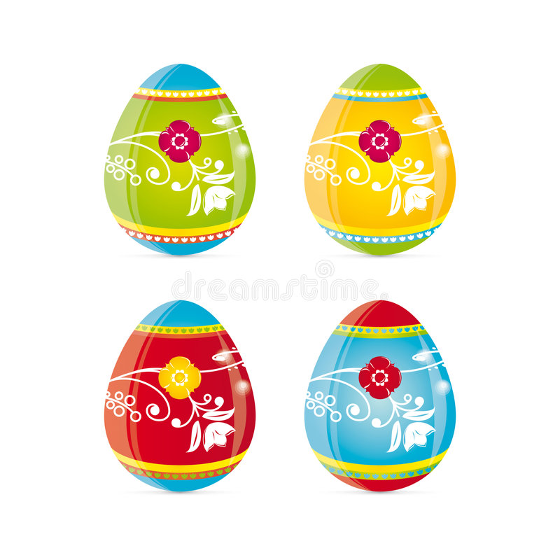 Download Easter Eggs stock vector. Image of colorful, eater, sunday - 4443022