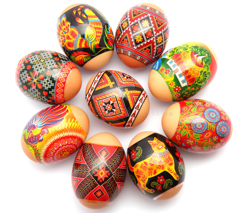 Download Easter eggs stock image. Image of isolated, homemade, celebration - 4589391