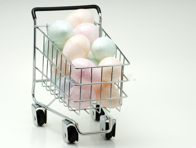 Download Easter Eggs stock photo. Image of wagon, holiday, basket - 515156
