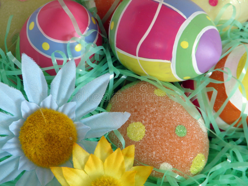 Download Easter Eggs stock image. Image of brightly, goodies, gather - 520675