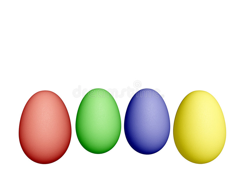 Download Easter Eggs stock illustration. Image of spring, isolation - 523472