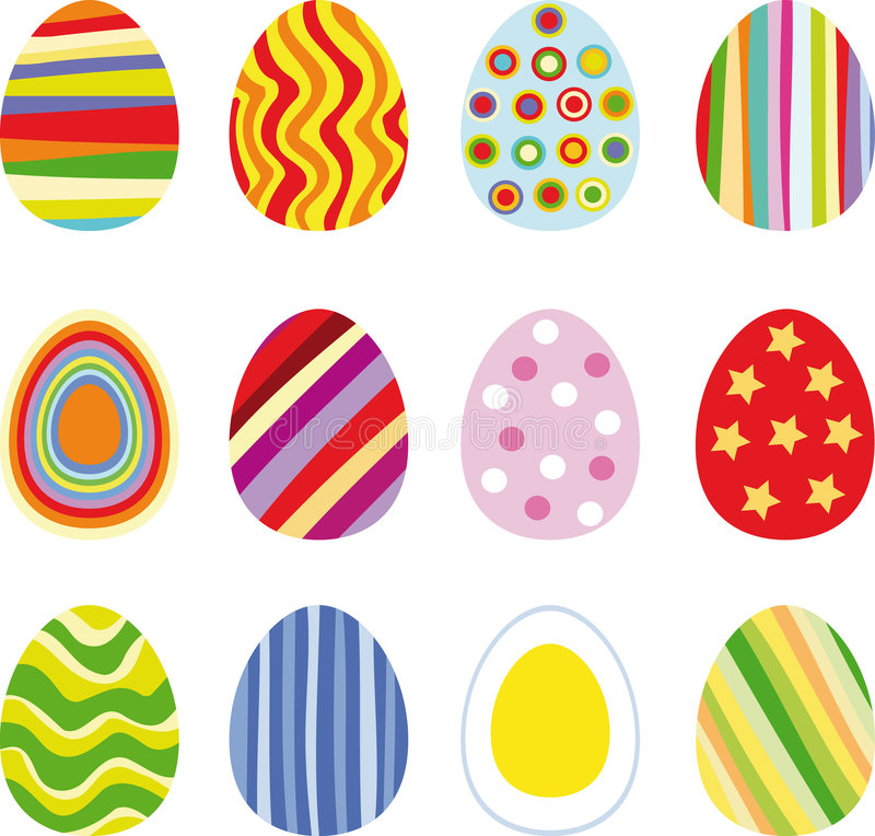 Download Easter eggs stock vector. Image of graphic, elements, faith - 7726427