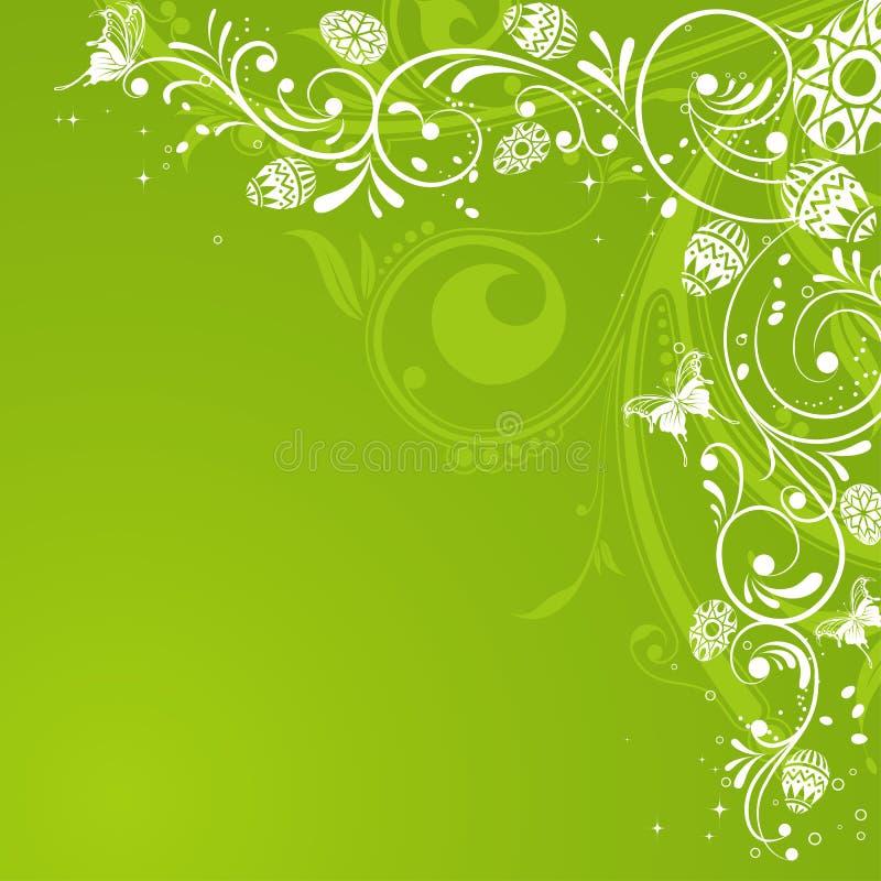 Easter eggs. With ornament on flower background, element for design, vector illustration