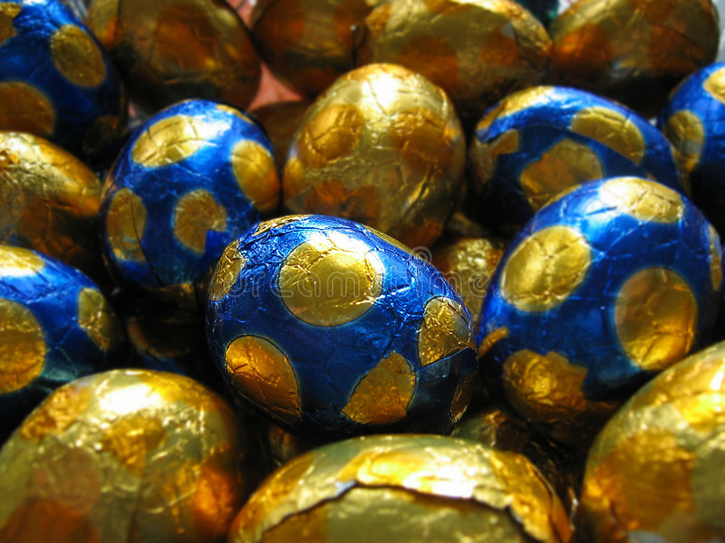 Download Easter eggs stock image. Image of blue, silver, eggs, gold - 87449