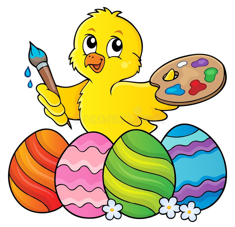 Free Easter Eggs And Chicken Painter Topic 1 Royalty Free Stock Photos - 174418268